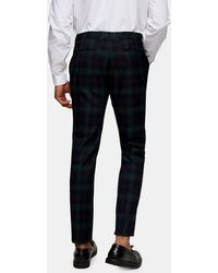 TOPMAN Pantaloni skinny da abito con motivo scozzese Blackwatch - Nero