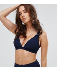 Wolf & Whistle   D Ring Ribbed Bikini Top Dd - G Cup   Lyst
