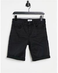 Only & Sons Denim Shorts - Black