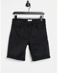 Only & Sons – Jeansshorts - Schwarz