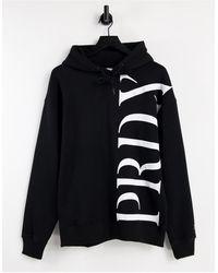 TOPMAN Sudadera negra con capucha y logo PRDX estampado en el lateral - Negro