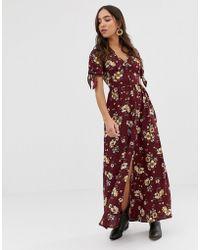 Band Of Gypsies Floral Print Maxi Dress - Multicolour