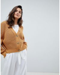 1573ad91dc Micha Lounge - Oversized Cardigan With Contrast Buttons - Lyst