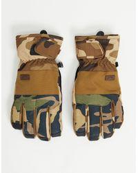 Billabong - Зеленые Камуфляжные Перчатки Kera-зеленый Цвет - Lyst