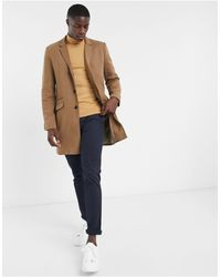 Only & Sons Jersey Overcoat - Natural