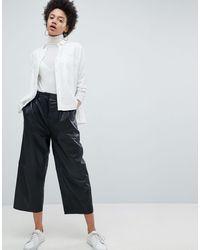 SELECTED Femme - Pantaloni cropped - Nero