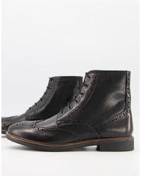 Moss Bros Черные Ботинки На Шнуровке Moss London-черный Цвет