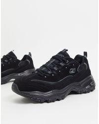 Skechers D Lites - Sneakers - Zwart