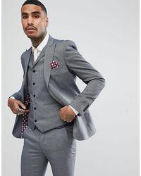 Rudie Light Jacquard Skinny Fit Suit Jacket - Grey