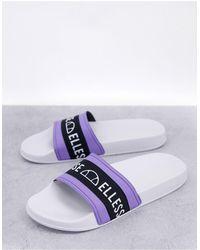 Ellesse Filippo Logo Sliders - White