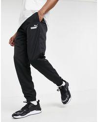 PUMA Спортивные Брюки Из Черной Ткани -черный Цвет