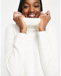 Vila Chunky Roll Neck Sweater - White