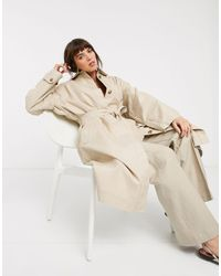 & Other Stories Belted Oversized Mac - Natural