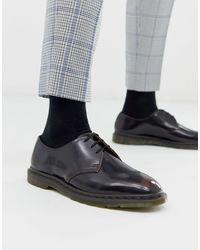 Dr. Martens Вишнево-красные Ботинки С (3 Парами Люверсов Archie-красный