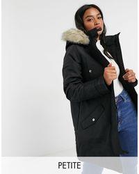 Vero Moda Parka With Faux-fur Hood - Black