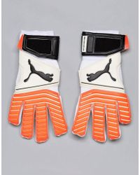 PUMA One 17.2 Rc Goal Keeping Gloves In White 04132501