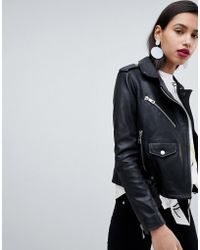 Whistles | Belted Agnes Leather Biker Jacket | Lyst