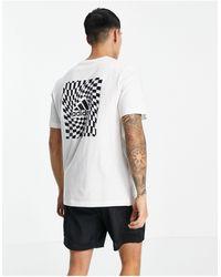 adidas Originals Camiseta blanca con logo en el pecho y estampado en la parte posterior - Blanco