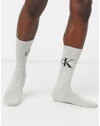 Calvin Klein Серые Носки С Логотипом Jeans-серый