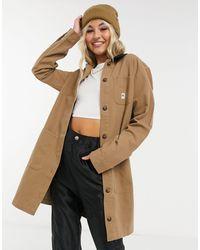 Vans Длинная Коричневая Куртка Drill Chore-коричневый