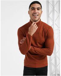 ASOS Jersey color teja ajustado - Naranja