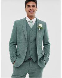 ASOS Wedding Super Skinny Suit Jacket - Green