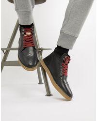 Original Penguin - Черные Кожаные Ботинки-броги -черный - Lyst