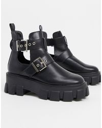 Truffle Collection - Bottes chunky style motard - Lyst