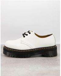Dr. Martens - Белые Туфли На Платформе С 3 Парами Люверсов 1461-белый - Lyst