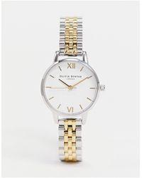 Olivia Burton Часы С Белым Циферблатом И Браслетом Из Металла Разных Цветов -мульти - Белый