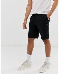 Ralph Lauren Double tech - Short molletonné avec logo joueur - Noir