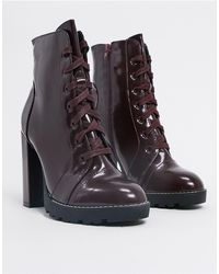 Call It Spring Axell Platform Boots - Red