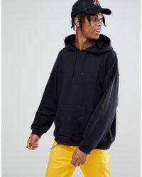 ASOS   Oversized Hoodie In Black   Lyst