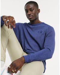 Calvin Klein Синий Свитшот С Круглым Вырезом -голубой