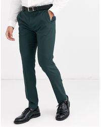Jack & Jones Зеленые Узкие Брюки Premium-зеленый