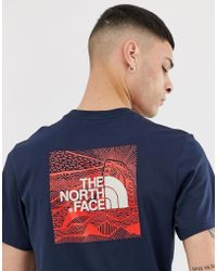 4c0bc2c59975 The North Face - Redbox Celebration T-shirt In Navy - Lyst