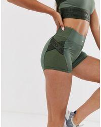 Nike Nike Pro Training 3 Inch Shorts With Taping Detailing In Khaki - Green