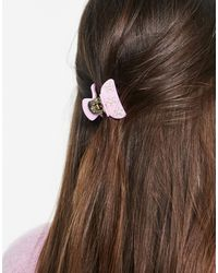 Pieces Hair Shark With Flower Detail Lilac - Purple