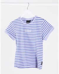 Kickers Shrunken T-shirt With Embroidery - Blue