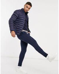 Threadbare Puffer Jacket - Blue