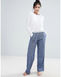 French Connection Pajama Pants - Blue