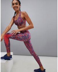 ae7913f040f2 Lyst - PUMA Leggings With All Over Leopard Print