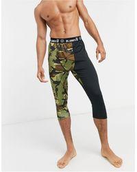 Planks Fall-line Base Layer 3/4 leggings - Green