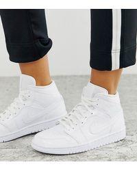 Nike Aj 1 Mid Trainer - White