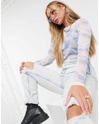 ASOS Top a maniche lunghe per Halloween - Blu