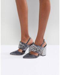 ASOS - Asos Perfect Combo Embellished Heels - Lyst