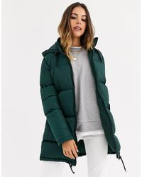 Brave Soul Длинная Дутая Куртка -зеленый