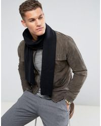 SELECTED - Leth Scarf In Black - Lyst
