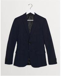 New Look Темно-синий Приталенный Пиджак