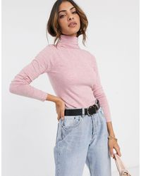 River Island Roll Neck Sweater - Pink